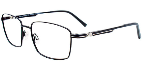 Satin Black/Steel Easy Clip EC510 Eyeglasses - (Clip-On).
