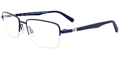 Satin Dark Blue Easy Clip EC472 Eyeglasses - (Clip-On).