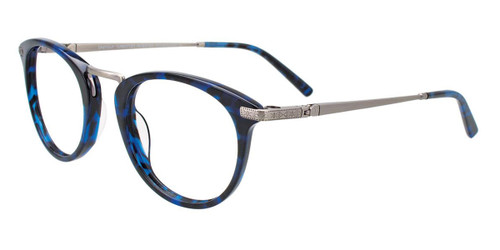 Demi Blue/Silver Easy Clip EC485 Eyeglasses - Teenager - (Clip-On).