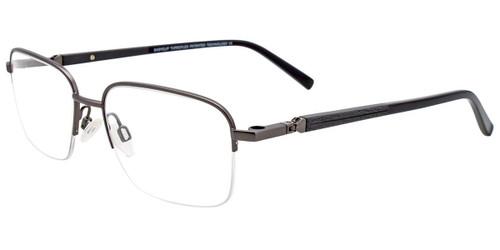 Satin Dark Grey Easy Clip EC468 Eyeglasses - (Clip-On).