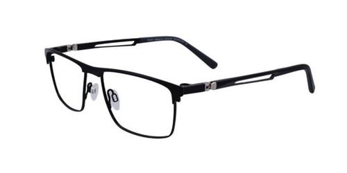 Satin Black Turboflex TK1048 Eyeglasses.