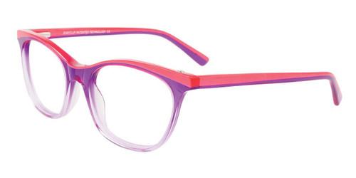Crystal Purple/Pearl Pink Easy Clip EC447 Eyeglasses - (Clip-On).