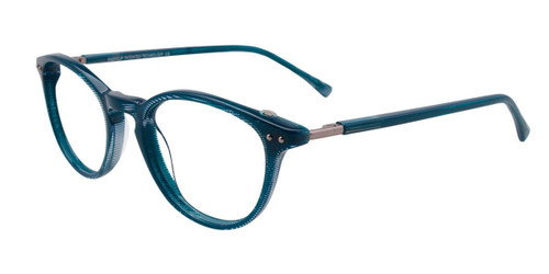 Teal/Crystal Easy Clip EC443 Eyeglasses - Teenager - (Clip-On).