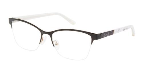 Black/Gold L.A.M.B  La077 Eyeglasses.
