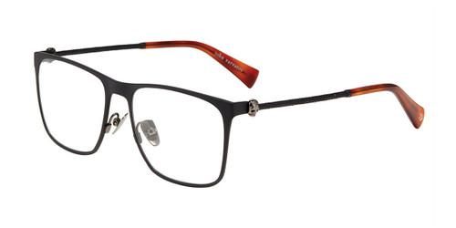 Matte Black John Varvatos V182 Eyeglasses.