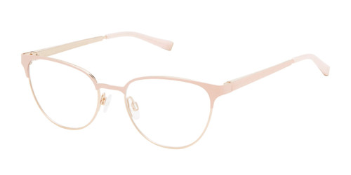 Pink/Rose Gold Kate Young For Tura K336 Eyeglasses.
