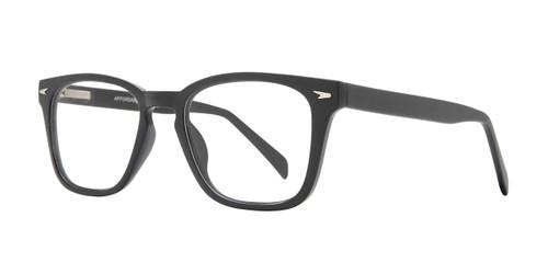 Matte Black Affordable Design Woody Eyeglasses.