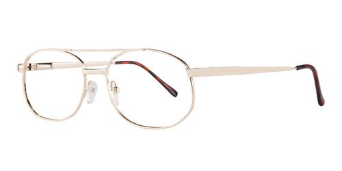 Gold Affordable Design Robert (56) Eyeglasses