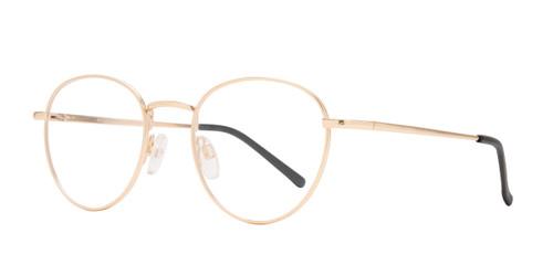 Matte Gold Affordable Design Boston Eyeglasses.