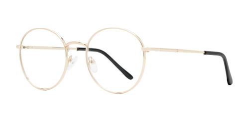 Gold Affordable Design Woodstock Eyeglasses.