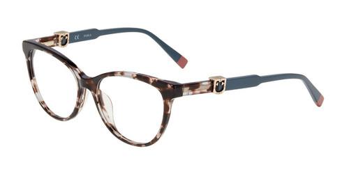 Grey Tortoise 0721 Furla VFU353 Eyeglasses.