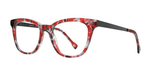 Burgundy Serafina Lavern Eyeglasses.