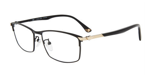 Matte Black(304M) Police VPL994 Eyeglasses.