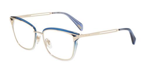 Gold Blue(300Y) Police VPLA91 Eyeglasses.