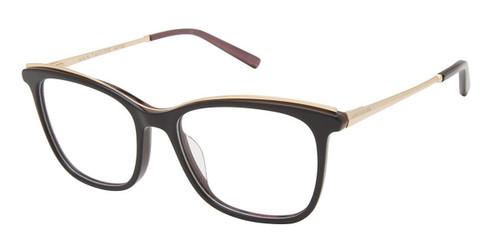 Black Lt Gold (c01) Ann Taylor ATP817 Petite Eyeglasses - Teenager