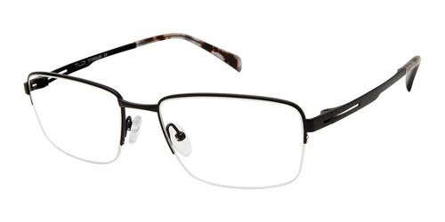 C01 Matte Black Tlg NU042 Titanium Eyeglasses.