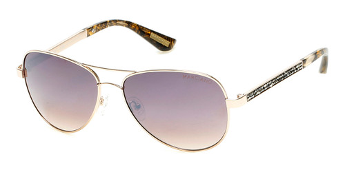 Shiny Gold/brown Gradient Marciano GM0754 Sunglasses.