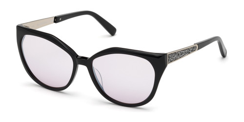Shiny Black Marciano GM0804 Sunglasses.