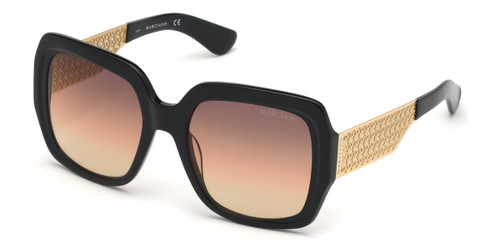 Shiny Black Marciano GM0806 Sunglasses.