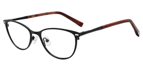 Black Jones New York Petite J152 Eyeglasses - Teenager.