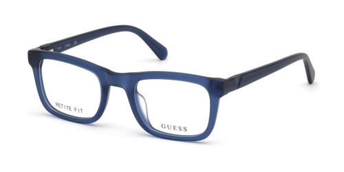 Matte Blue Guess GU50002 Eyeglasses.
