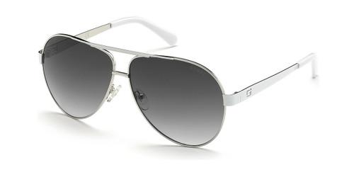 Shiny Light Nickeltin/Smoke Mirror Guess GU6969 Sunglasses.