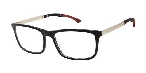 Black c01 Champion Troika Tri-Flex Eyeglasses.