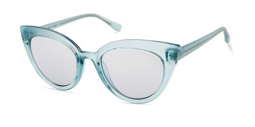 Shiny Light Green/Smoke Mirror Lenses Guess GU7628 Sunglasses