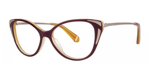 Maroon Zac Posen Fay Eyeglasses
