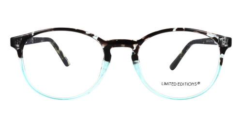 Black/Blue Limited Edition LTD 2218 Eyeglasses - Teenager