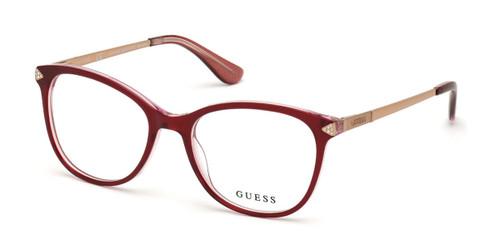 Shiny Bordeaux Guess GU2632-S Eyeglasses