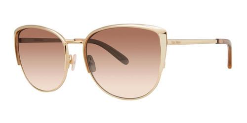 Gold Vera Wang V490 Sunglasses.