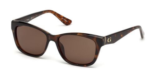 Dark Havana/Brown Guess GU7538 Sunglasses