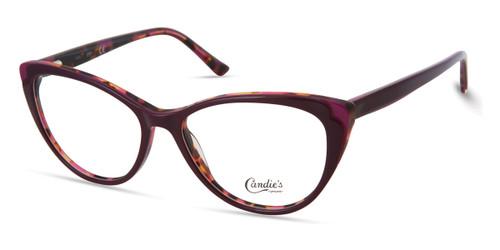 Shiny Violet Candie's Eyewear CA0189 Eyeglasses