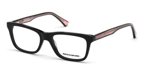 Shiny Black Skechers SE1644 Eyeglasses