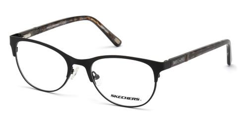 Shiny Black Skechers SE2153 Eyeglasses