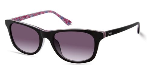 Shiny Black/Gradient Smoke Candie's Eyewear CA1030 Sunglasses