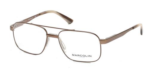 Matte Dark Brown Marcolin Eyewear MA3005 Eyeglasses.