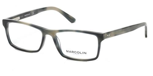 Coloured Horn Marcolin Eyewear MA3008 Eyeglasses.