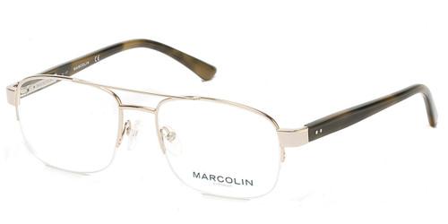 Pale Gold Marcolin Eyewear MA3009 Eyeglasses.