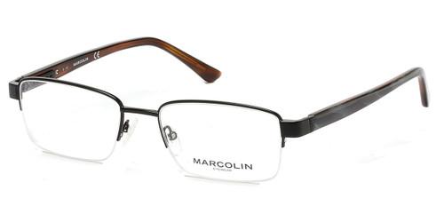 Matte Black Marcolin Eyewear MA3012 Eyeglasses.