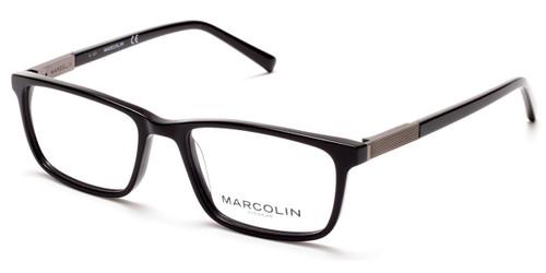 Shiny Black Marcolin Eyewear MA3014 Eyeglasses.