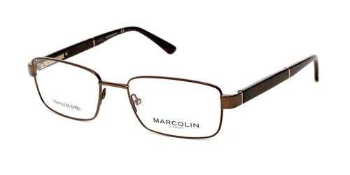 Matte Dark Brown Marcolin Eyewear MA3015 Eyeglasses.