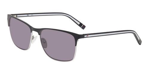 Black Silver Fila SF9486 Sunglasses