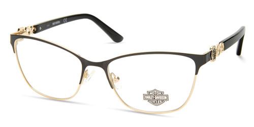 Shiny Black HARLEY DAVIDSON HD0553 Eyeglasses.