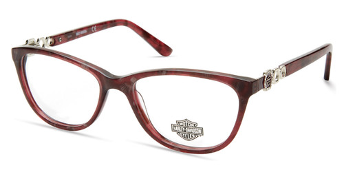 Shiny Bordeaux HARLEY DAVIDSON HD0554 Eyeglasses.