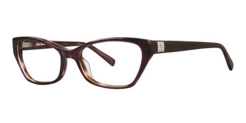 Plum Tortoise Vera Wang V323 Eyeglasses.