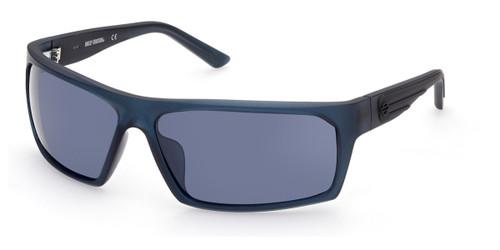 Matte Blue/Blue Mirror HARLEY DAVIDSON HD0951X Sunglasses.