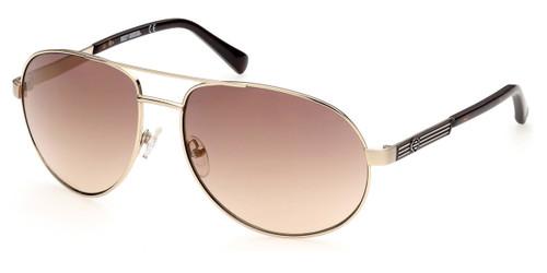 Gold/Brown Mirror HARLEY DAVIDSON HD0954X Sunglasses.