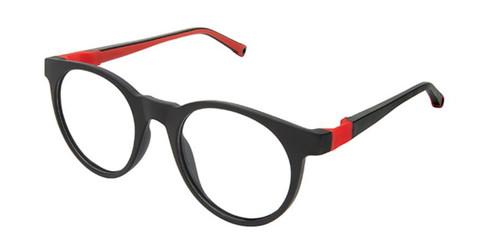Black Red/Blue Life Italia JF-905 Eyeglasses.